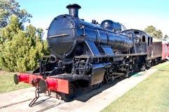 svart lokomotiv Royaltyfri Fotografi
