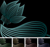 svart lotusblomma royaltyfri illustrationer