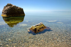 svart lugnat hav Royaltyfri Bild