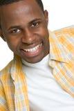 svart lycklig man Arkivfoto