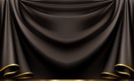 svart lyx för bakgrund Arkivbild
