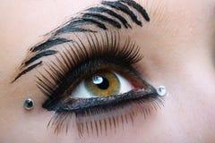 svart makeup Royaltyfri Bild