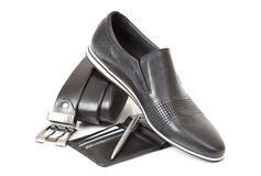 svart male sko Royaltyfria Bilder