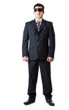 svart manbandstanding Arkivfoto