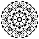 Svart mandala Arkivbild
