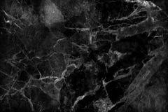 Svart marmortextur i den naturliga modellen, svart stengolv Royaltyfri Bild