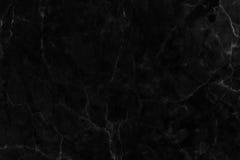 Svart marmortextur i naturligt mönstrat för bakgrund och design Royaltyfri Fotografi