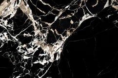 Svart marmortexturbakgrund, abstrakt naturlig textur för de Royaltyfri Bild