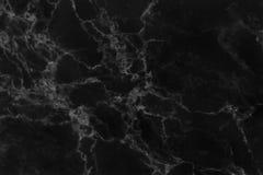 Svart marmortexturbakgrund, svart stengolvmodell med hög upplösning Royaltyfri Fotografi