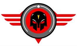 Svart maskering över den röda cirkeln royaltyfri illustrationer