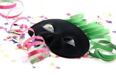 svart maskeringsdeltagare Royaltyfria Bilder
