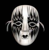 svart maskeringswhite Arkivfoton