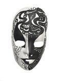 svart maskeringswhite Royaltyfri Fotografi