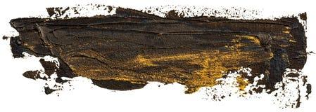 Svart med guld- fl?ckar oljer texturhandm?larf?rg vektor illustrationer