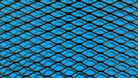 Svart metalliskt ingrepp på blå torkdukebakgrund royaltyfri illustrationer