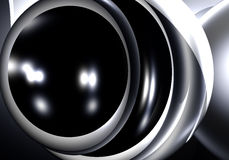 svart metallsilversphere Arkivfoton