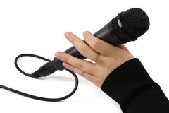 svart mic Arkivfoton