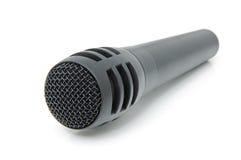 svart mikrofon Arkivbild