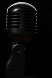 svart mikrofon Arkivfoto