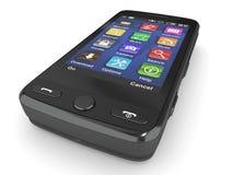svart mobil telefon 3d Royaltyfri Fotografi