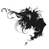 svart modeillustrationwhite Royaltyfri Fotografi