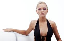 svart model sexigt slitage för bikini Arkivfoto