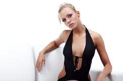 svart model sexigt slitage för bikini Royaltyfri Foto