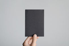 Svart modell för reklamblad A6/vykort-/inbjudan Arkivfoton