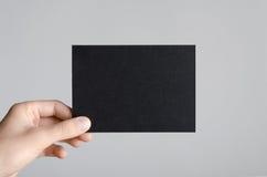 Svart modell för reklamblad A6/vykort-/inbjudan Arkivbilder