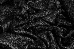 Svart modell för tygtexturbakgrund detta tyg av siden- fabr arkivbild