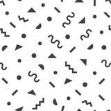 Svart modern retro och skraj enkel symbolmodell på vit bakgrund vektor illustrationer