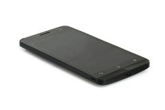 Svart modern smartphone Arkivfoton