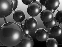 Svart molekylstruktur Arkivbilder