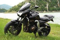 svart motor för cykel Royaltyfri Bild