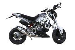 svart motorcykelwhite Arkivfoto