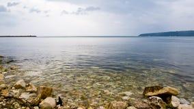 svart mulet hav arkivbilder