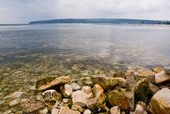svart mulet hav Royaltyfri Bild