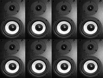 Svart musikhögtalare Arkivfoton