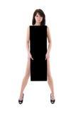 svart naken kvinna för affischtavla Arkivbilder