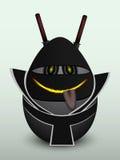 Svart ninjamaskering för ägg Arkivfoton