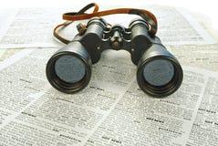 svart nyheterna för kikare Fotografering för Bildbyråer