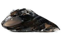 Svart obsidian Arkivfoton