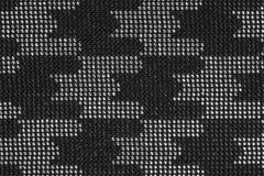 Svart och försilvra rhinestones arkivfoto