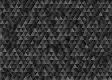 Svart och Grey Triangles Geometric Pattern Background med mosaisk effekt stock illustrationer