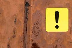 Svart och gul utropstecken Fotografering för Bildbyråer