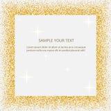 Svart och guld- bakgrund med cirkelramen och utrymme för text guld- damm som är stort för valentin, jul och födelsedag stock illustrationer