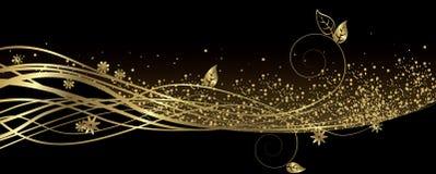 Svart och guld- baner vektor illustrationer