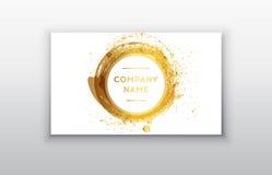 Svart och guld- designmallar för broschyrer, reklamblad, mobila teknologier och online-tjänst Royaltyfri Foto