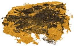Svart och guld- slaglängd för borste för fläck för oljatexturmålarfärg royaltyfri illustrationer