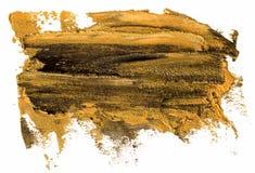Svart och guld- slagl?ngd f?r borste f?r fl?ck f?r oljatexturm?larf?rg vektor illustrationer